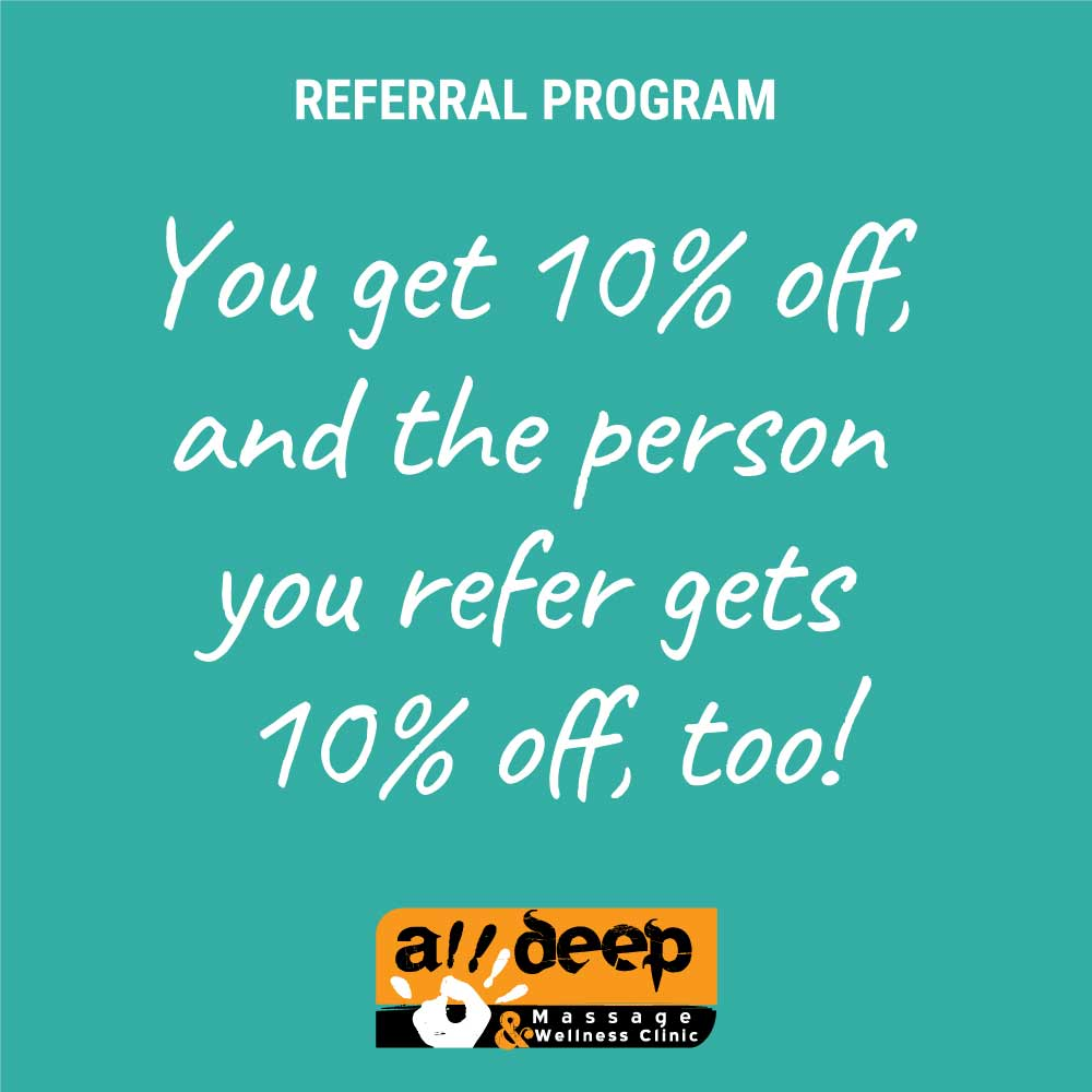 Referral Program - 10% off person you refers